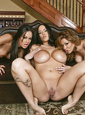Dream action with three big titted milfs Angelina Valentine, Carmella Bing and Sienna West