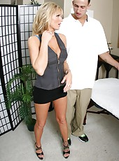 Busty blonde Brooke Belle gets her doctor
