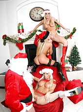 Threesome Xmas party with Brooke Belle, Lichelle Marie and Nikki Benz