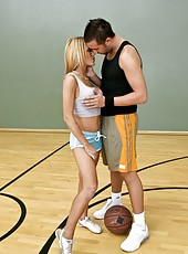 Big titted blonde milf Shyla Stylez gets fucked by hot basketball player