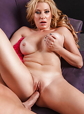 Big assed and big titted blonde milf Jennifer Best gets wild with a big cock