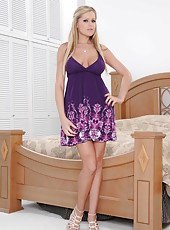 Glamorous and fervent blonde milf Darcy Tyler treats with her perfect parts