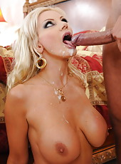 Blonde milf goddess Brittany Andrews gets her asshole licked and pounded