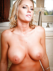 Blonde lady with large tits Zoey Holiday fucked by a huge black cock