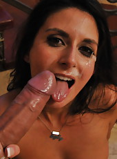 Slender and charming lady Nikki Daniels got a big cock in her tight pussy