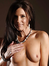 Incredibly hot milf India Summer teases us with her elegant tiny tits