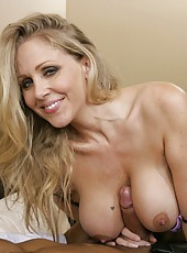 Exceptional wife Julia Ann making a deepthroat and pleasing her husband
