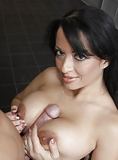 Big-titted milf Mason Storm likes to bang with strangers and swallow cocks