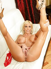 Slutty whore Misty Vonage dancing striptease and getting ready for a big cock