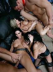 Sophia Lomeli and her lesbian friends acting like real dirty milfs