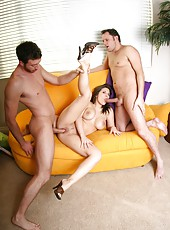 Busty Victoria Sin and two perfect pornstars enjoying an awesome group sex