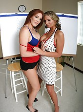 Morgan Reigns and Phoenix Marie are showing their milf lesbian asses to the world