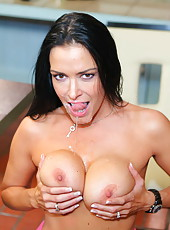 Hardcore fuck with a nasty and slutty brunette bitch named Vanilla Deville