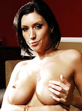 Naughty brunette minx Dylan Ryder opens her mouth for a sexy blowjob