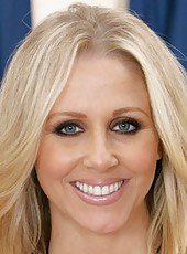 Incredible whore Julia Ann undresses her black lingerie and shows her big tits