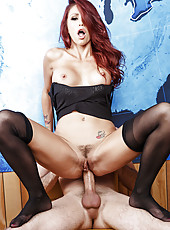 Hardcore and hot anal fuck with  gentle redhead mommy named Monique Alexander