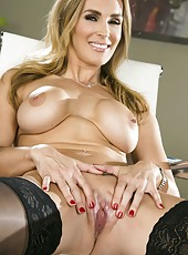 Busty milf Tanya Tate spreads her gorgeous legs and masturbates