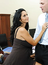 Amazing anal action with a slutty and busty brunette Ava Addams