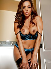 Amazing, first-class milf Francesca Le treats with big tits and sexy long legs
