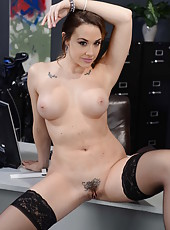 Charming bombshell Chanel Preston demonstrates her sweet hole and big tits