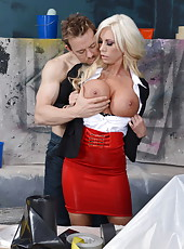 Astounding and mesmerizingly hot busty blonde Lolly Ink enjoys this fucking action