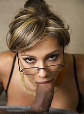 Hot and sexy milf Esperanza Gomez demonstrates her amazing fucking skills with a big cock