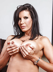 Brunette mature minx Shay Sights makes our dicks as hard as iron with her amazing forms