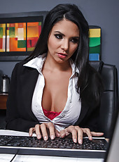 Office lady Missy Martinez got a perfect lunch break with her big dicked boss