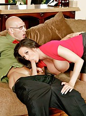 Delicious woman Isis Love got a big cock in her perfectly shaved tight pussy