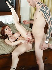 Hardcore fuck with a naughty redhead mommy named Brittany Oconnell