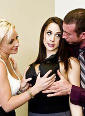 Crazy threesome with sexy girls named Chanel Preston and Lexi Swallow