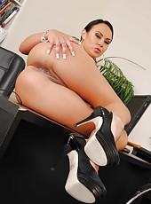 Provocative and ambitious boss Mariah Milano strips sweet during the break