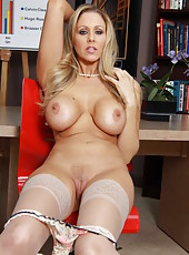 Excellent milf Julia Ann demonstrates her big boobs and sweet pussy in the best positions