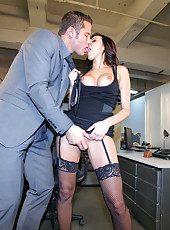 Great secretary with huge breast and sexy face Breanne Benson fucked in the office