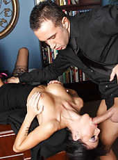 Experienced brunette milf Gia Dimarco shows off her wild and unforgettable talents in the action
