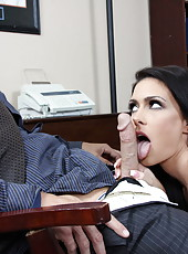 Buxom milf with large tits Jessica Jaymes came to get new job and fucked future boss