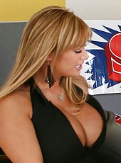 Curvy business lady Shyla Stylez came to buy a new car and decided to celebrate this fact