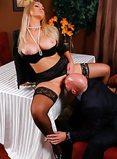 Great blonde milf Abbey Brooks turns this official meeting into unforgettable fuck