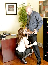 Stunning and gorgeous babe with big tits Jenna Presley fucked by her lucky boss
