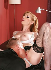 Stunning mature bombshell with big tits Tarra White fucked on sexy high heelsW