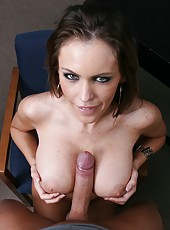 Amazing and slutty chick Jenna Presley takes a cock and sucks it with pleasure