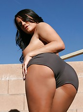 Awesome and hot outdoor action with a fabulous and busty brunette Savannah Stern
