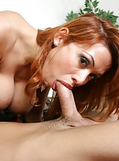 Hardcore and crazy fuck with a dangerous redhead whore Sienna West