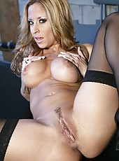 Awesome action with beautiful and busty chicks named August and Eva Angelina