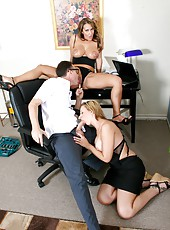 Amazing threesome with naughty girls named Bree Barrett and Trina Michaels