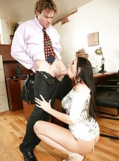 Awesome and crazy fuck with a great lady Rachel Starr on the table