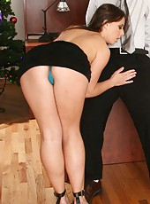 Crazy threesome with nasty lesbians named Brooke Haven and Penny Flame