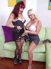 Voluptuous mature lesbians Charlee Chase and Sexy Vanessa become horny