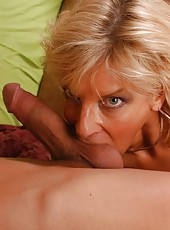 Mature blonde hottie TJ Powers fucking hardcore with her neighbourhood lover