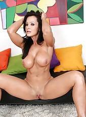 Fabulous brunette babe with excellent big tits and sweet shaved pussy Lisa Ann